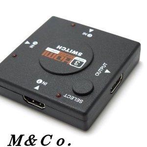 【M&Co.】HDMIミニスイッチ 3ポート切替器