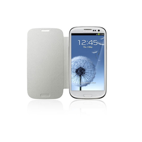 Samsung Galaxy S III Flip Cover, Marble White - サムスン電子純正 - 並行輸入品