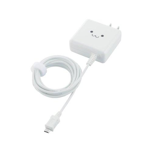 ELECOM スマートフォン/タブレット用 【超急速充電】 AC充電器 ケーブル一体型 1800mA 1.5m  ホワイト MPA-ACMA1518WH