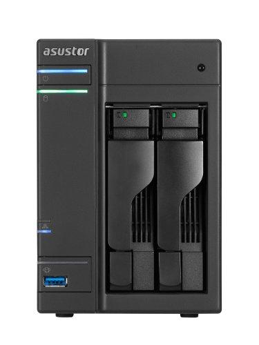 ASUSTOR NAS 2-Bay Intel ATOM Dual Core 512MB GbE x 1 USB 3.0 SATAIII 3年保証 AS-202T