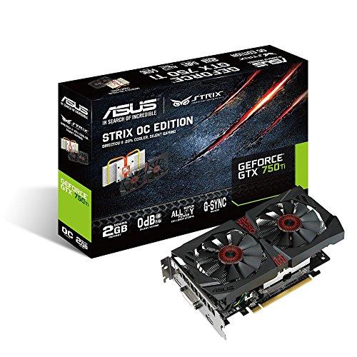 ASUSTeK NVIDIA GeForce GTX 750Ti セミファンレス技術 0dB fan technology採用 STRIX-GTX750TI-OC-2GD5