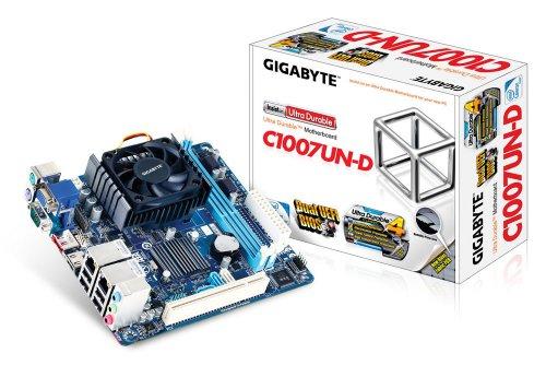 GIGABYTE マザーボード Intel NM70 Celeron 1007U搭載 Mini ITX GA-C1007UN-D