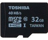 Toshiba microSDHC  東芝 UHS-I 超高速 Class10 並行輸入 (32GB, 40MB/s)