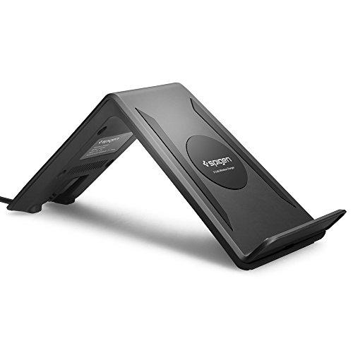 ワイヤレス充電器, Spigen® [3-Coil System] Qi規格対応 ワイアレス チー チャージャー 非接触充電 無接点充電 スマホ置くだけ充電 Galaxy S6/Edge,S7/Edge,Nexus 5,6,7 (2013) LG,HTC対応 (国内正規品) (2015) (F300W, ワイヤレス チャージャー 【SGP11480】)