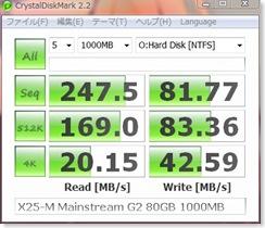 X25-M Mainstream G2 80GB Crystal 1000MB