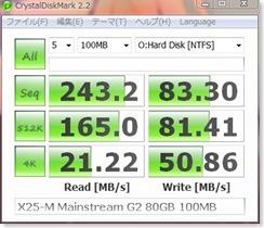 X25-M Mainstream G2 80GB Crystal 100MB