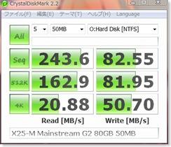X25-M Mainstream G2 80GB Crystal 50MB