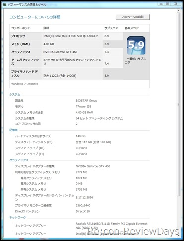Core_i3_530_2.93GHz_GTX460_sonicplatinum_teikaku_experienceindex