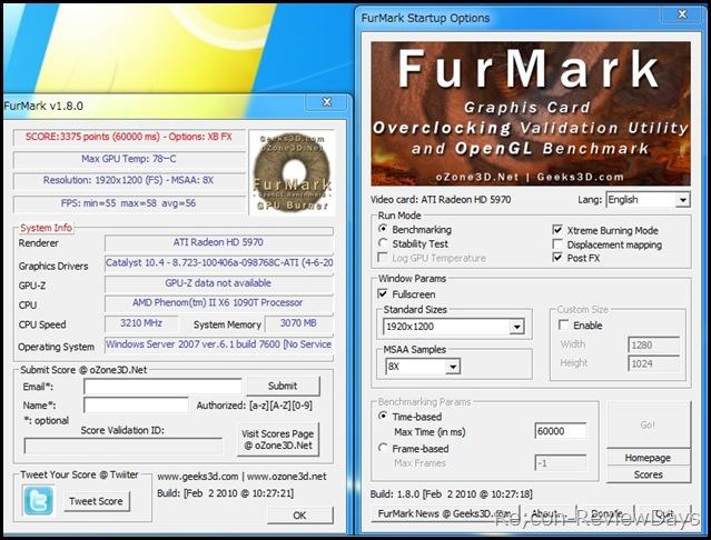 PhenomII_X6_1090T_3.2GHz_FurMark1.8_koufuka