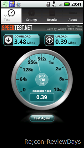 milestone2-3g-speedtest