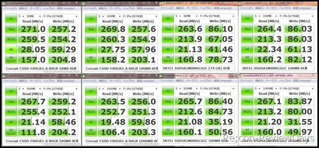 SSD_SandForce1200_X25-M_crystaldiskmark_hikaku
