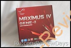 Maximus IV GENE-Zを頂きました