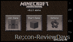 Minecraft – Pocket Edition 0.1.3alpha 適当なレビュー