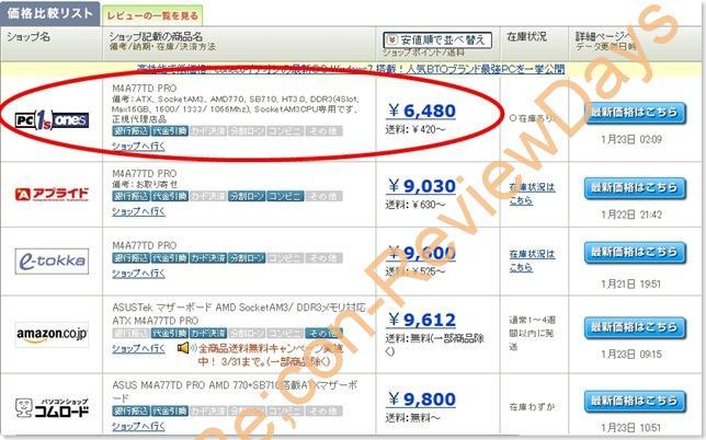AMD 770を搭載するASUS製マザーボード「M4A77TD PRO」が何と6480円!