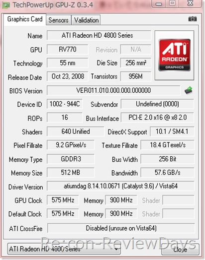 AOpen Radeon HD 4830 Greenのチラ裏