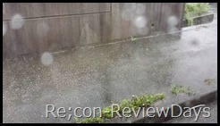 台風の影響で大雨…