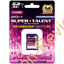 UHS-1に対応する64GBのSDXCカードが特価1,608円、送料無料で販売中 #NTTX #SUPERTALENT #SDXC