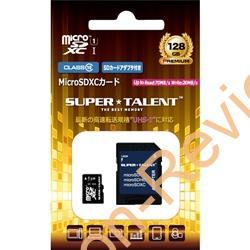 UHS-1に対応する128GBのMicroSDXCカードが特価3,588円、送料無料で販売中 #NTTX #SUPERTALENT #microSD