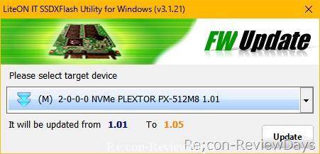plextor m8pe ファームウェア