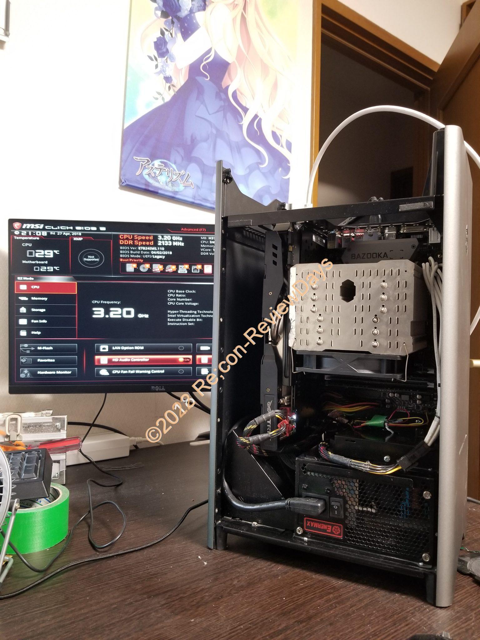 Coffe Lakeで4年ぶりにがっつり自作PCに挑戦してみました #Coffelake #Intel #H370 #自作PC