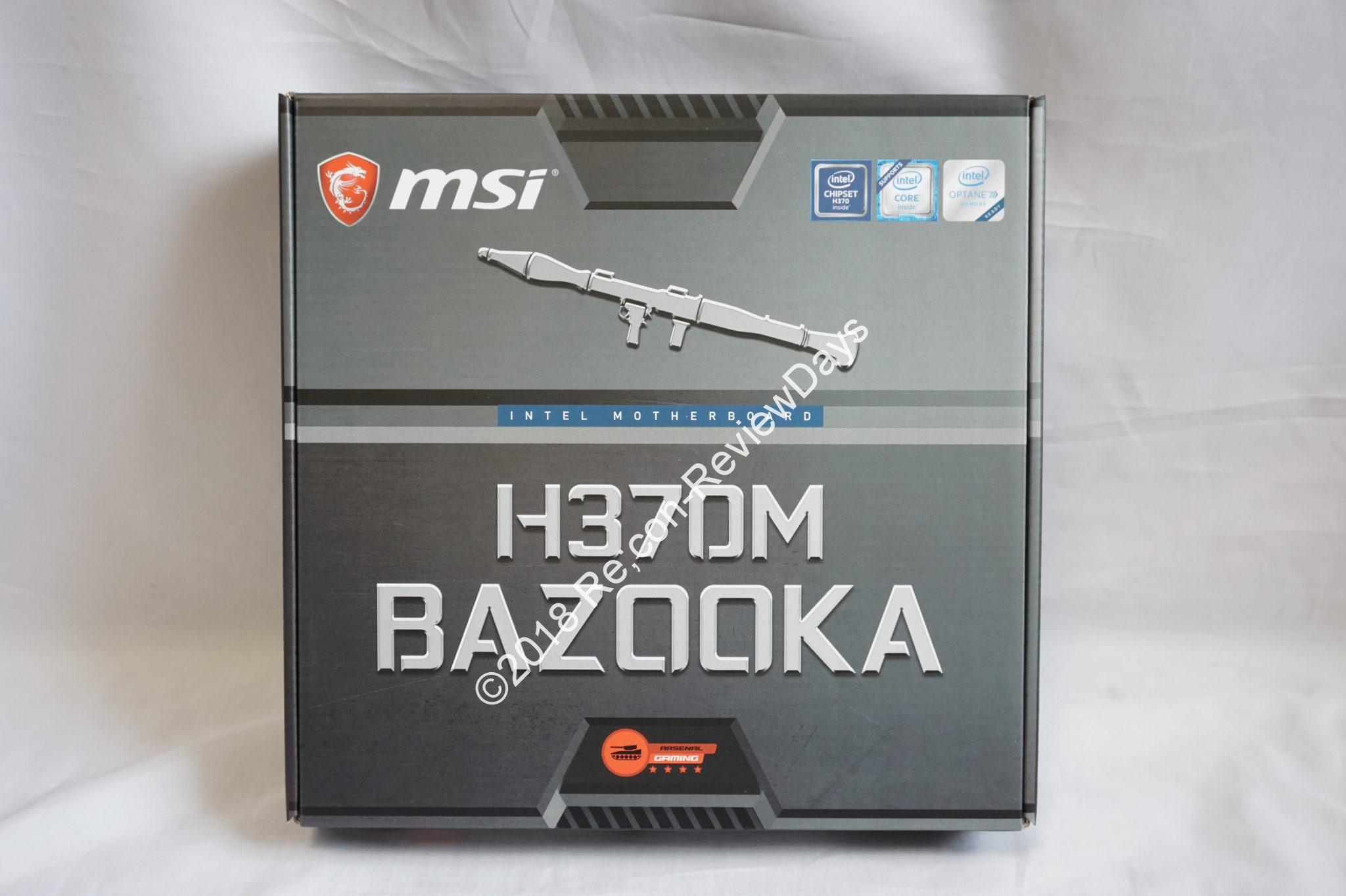 MSI Intel H370を搭載するMicro-ATXマザーボード「H370M BAZOOKA」の外観をチェックする #MSI #Intel #H370 #自作PC #Motherboard