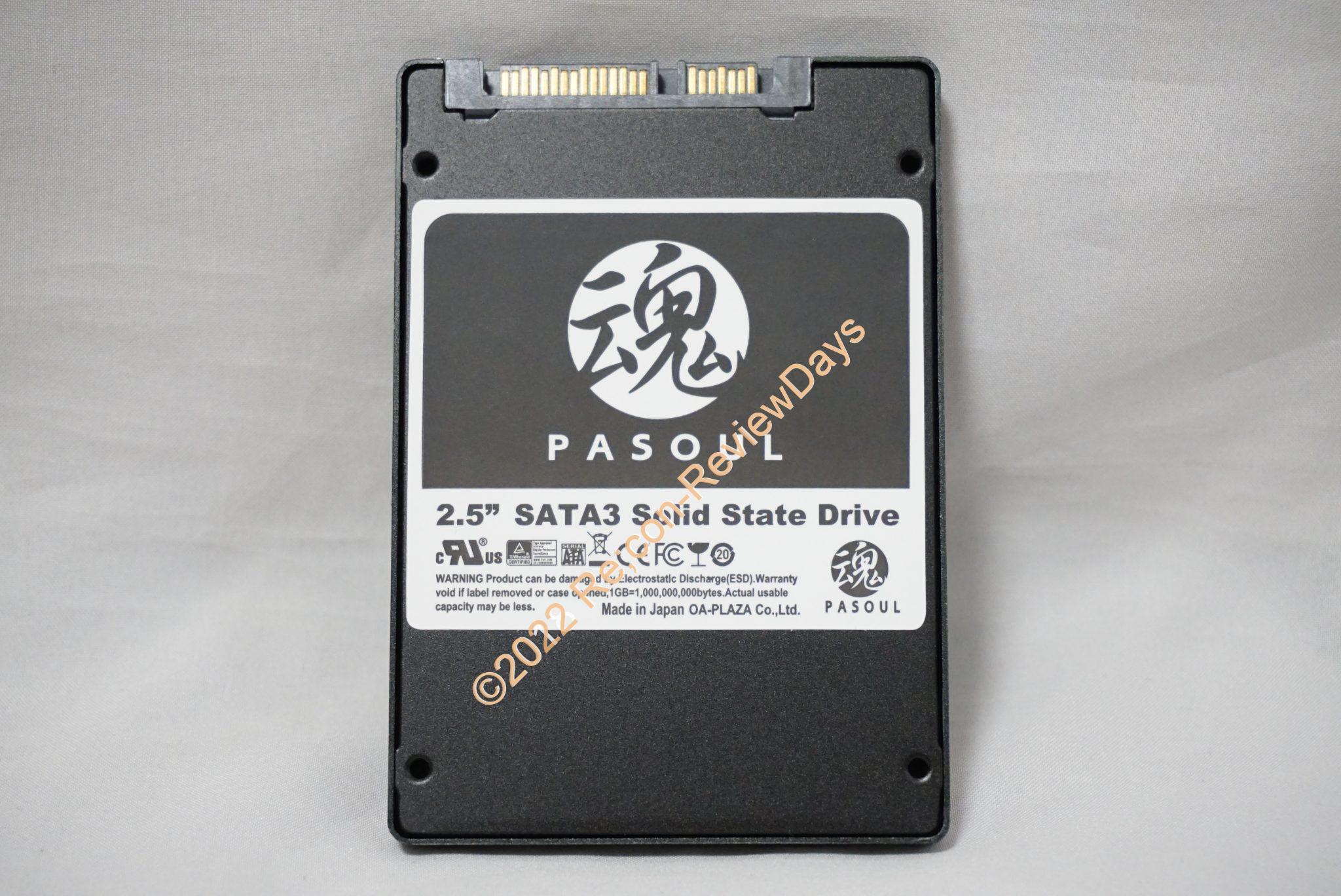 OA-PLAZA製の2.5インチ7mm厚のオリジナルブランド 480GB SSD「魂 PASOUL 480GB」のパフォーマンスをチェックする #SSD #自作PC
