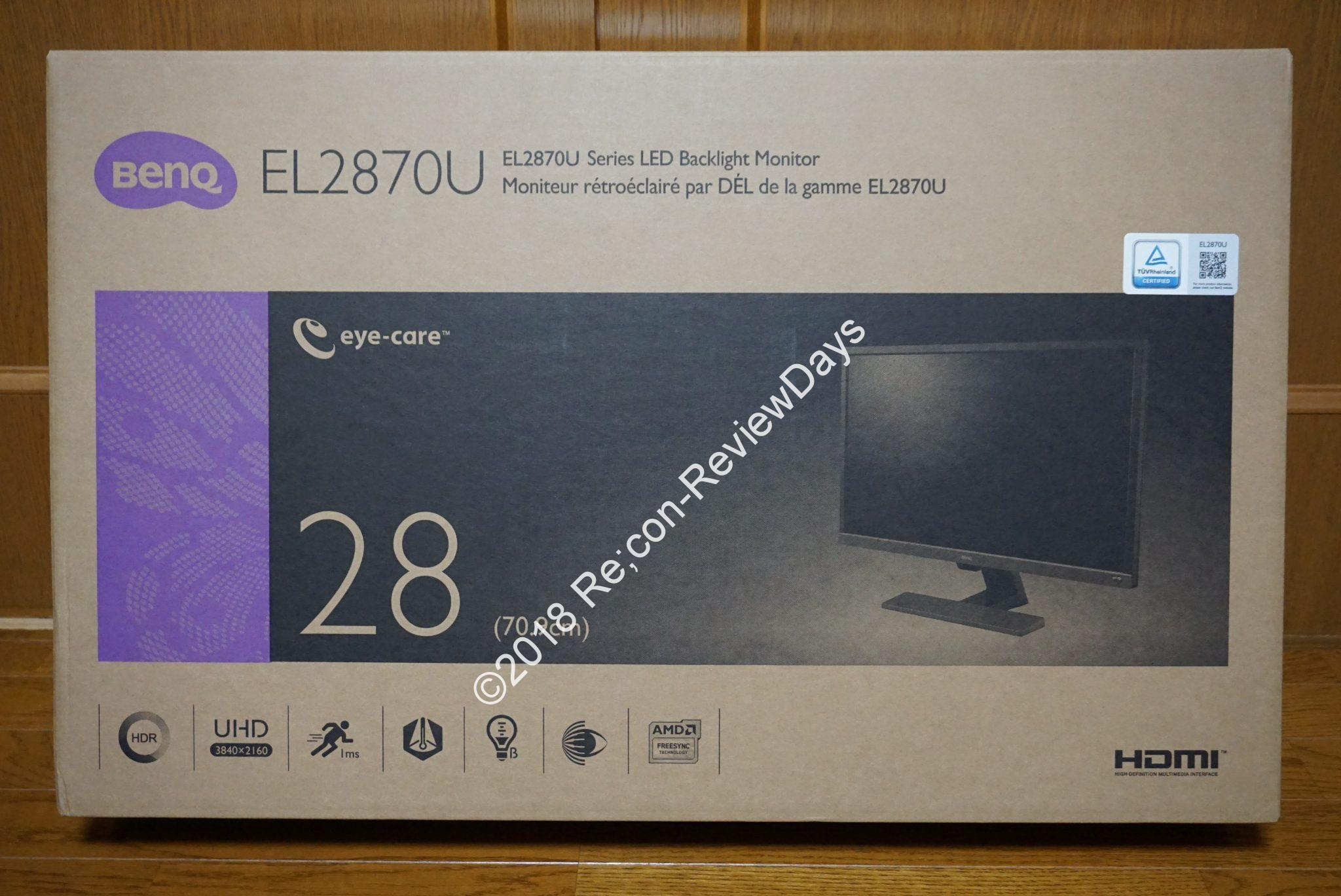 BenQ 27.9型の4K HDR対応ゲーミングディスプレイ「EL2870U」の使い勝手をチェックする #BenQ #4K2K #ディスプレイ #ゲーミング