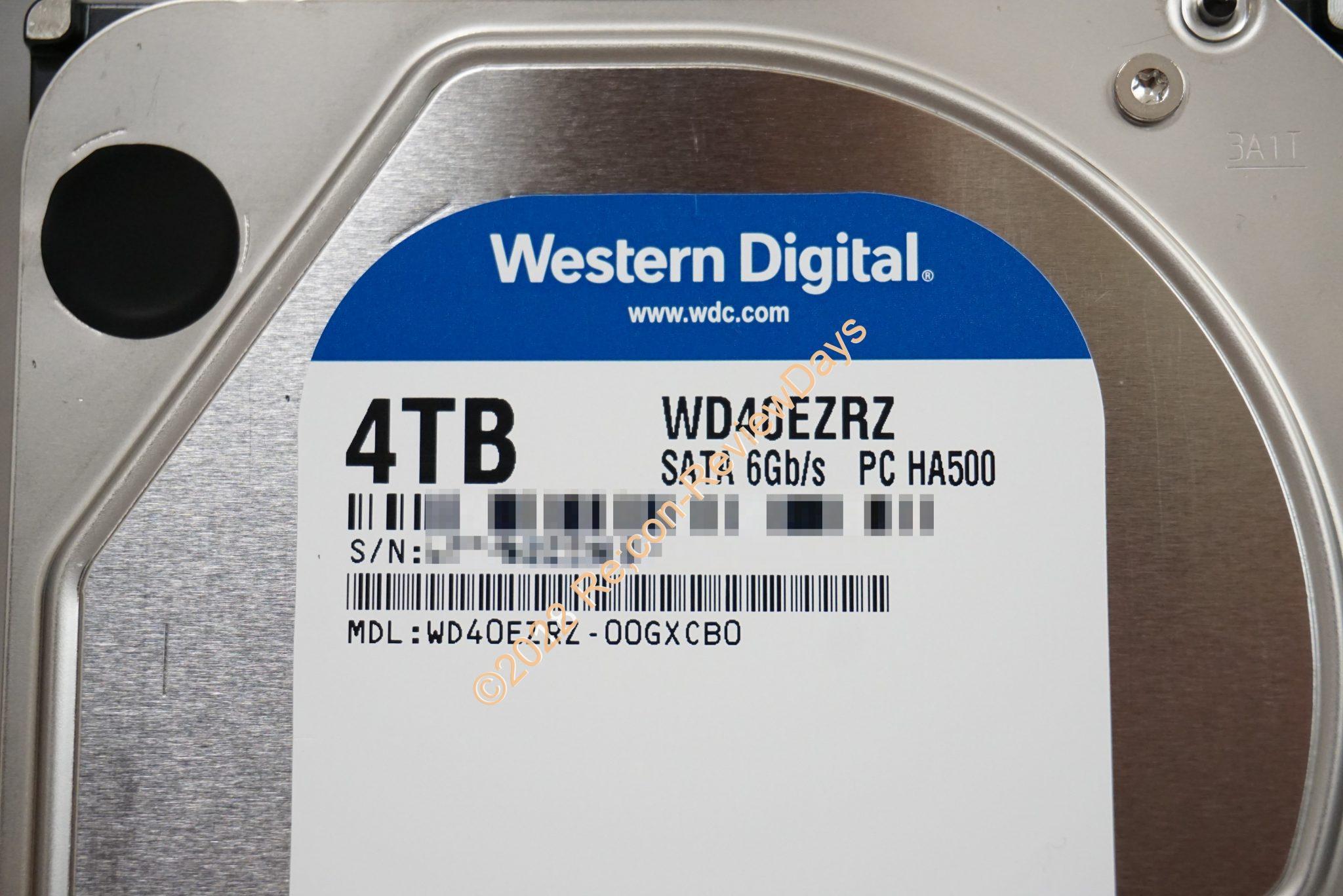 Western Digital 4TB HDD WD40EZRZ-00GXCB0(WD40EZRZ-RT2)のパフォーマンスをチェックする #HDD #WesternDigital