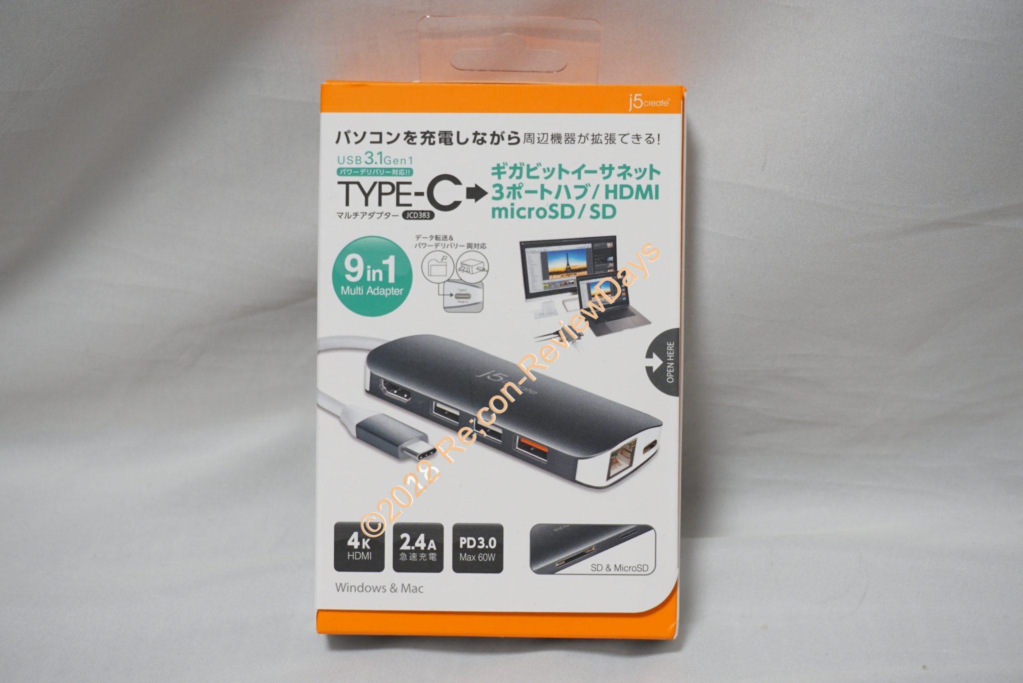 j5 create製のUSB 3.1 Gen1、USB Power Delivery対応の9in1マルチドック「JCD383」の使い勝手をチェックする #テックウインド #TypeC #USBPD #レビュー