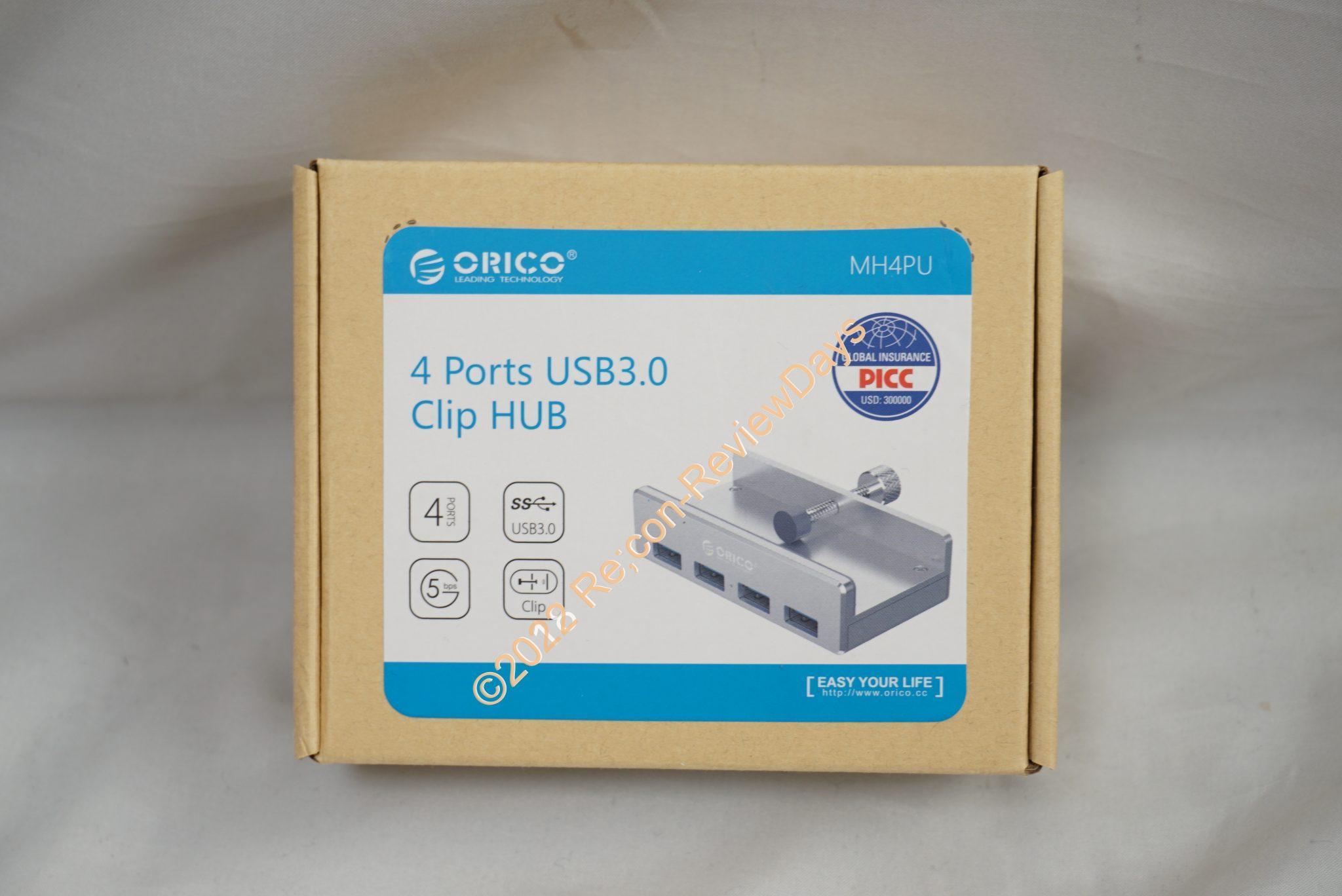 机に固定できるORICO製のUSB 3.0 4ポートハブ「MH4PU-SV」を検証する #USBハブ #USB #ORICO