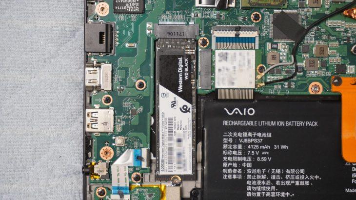 SONY VAIO S13 VJS131シリーズ VJS131C11NのSSDを交換してみた #SONY #VAIO #VJS131 #VAIOS13