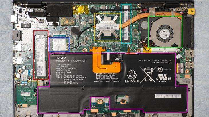 SONY VAIO S13 VJS131シリーズ VJS131C11Nを分解してみる #SONY #VAIO #VJS131 #VAIOS13