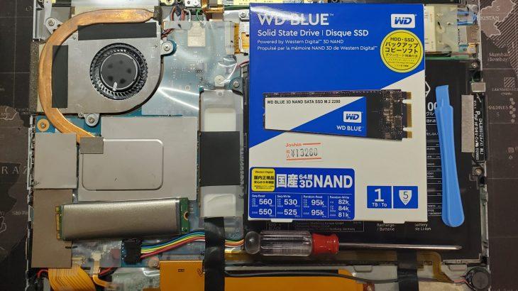 Panasonic Let's note XZ6のM.2 2280 SSD(SATA3/NGFF)を交換する方法を簡単に解説 #Panasonic #Letsnote #XZ6 #SATA3 #M2 #NGFF #自作PC