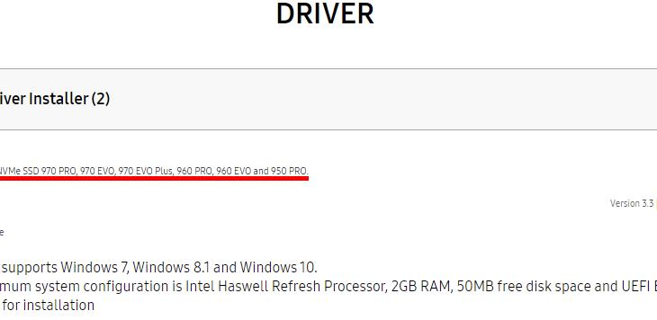 Samsung SSD 980 ProはNVMeドライバーが配布されていない #Samsung #980Pro #SSD #自作PC