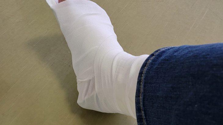 右足を捻挫してしまいました